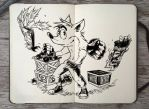 #301 Crash Bandicoot by 365-DaysOfDoodles