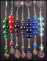 Lampwork Christmas Ornaments by andromeda