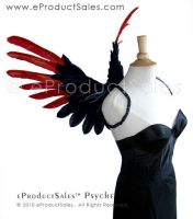 Black RED PSYCHE Angel WINGS by eProductSales