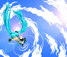 Miku .Sound.Scaper. +vidraw by BlissSlyOne