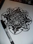 First mandala attempt WIP by kayanah