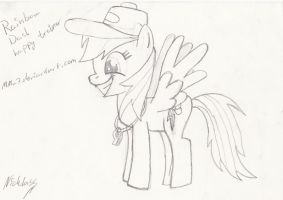 Rainbow dash hoofdrawen sketch by MMu7