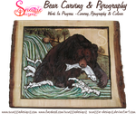 Bear Carving and Pyrography WIP 09 by snazzie-designz