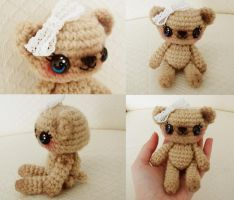 sweet posable ami bear action shots by hellohappycrafts