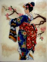 embroidery geisha by Axel-Pwnderson