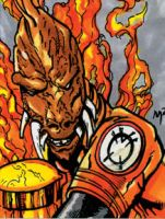 Larfleeze II Sketch Card by mmunshaw
