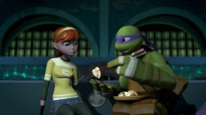 Tmnt 2012-Even more Don and April by aamlfan04