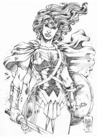 Wonder Woman Warrior by MARCIOABREU7