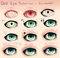Step by Step - Doll Eye Tutorial by Saviroosje
