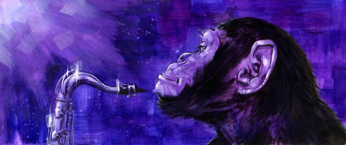 chimp jazz by PINGriff