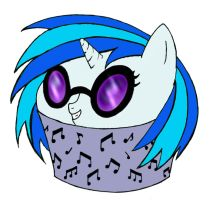 Vinyl Scratch Cupcake by haiban