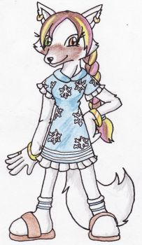 Dehmy the Arctic Fox by ChaosAngel5