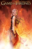 DAENERYS from GOT by Oliver Nome colored by Dany-Morales
