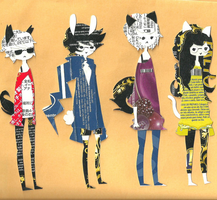 homestuck bookmarks - beta kids by hitorineko