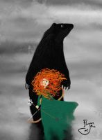 Merida and the Bear by Flynn-the-cat