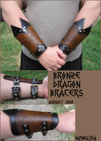 Bronze Dragon Bracers by TheScreamingNorth