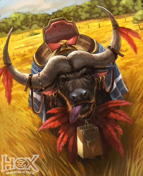 HEX TCG - Tara the Pet Buffalo by RogierB