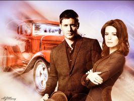Dean Winchester and Piper Halliwell by AGMarry