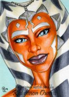 Ahsoka Tano sketch card by Dangerous-Beauty778