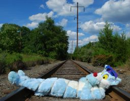 Tied to a railroad track by Scurrow