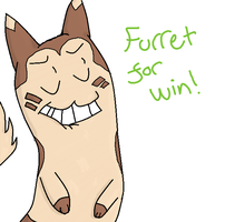 Furret for win! by Wampireeh