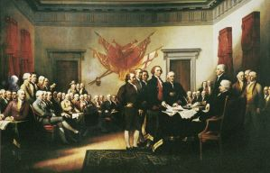 The Signing of the Declaration of Independence by w1haaa