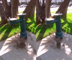 Stereograph - Drinking Fountain by alanbecker