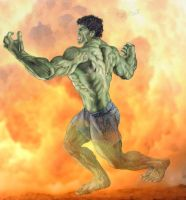 Hulk NOW in color by Meador