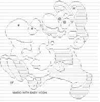 Mario with Baby Yoshi by XIF