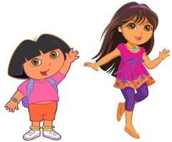 Old Dora, New Dora by SweetandPetite