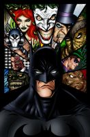 Batman and Villains Ink colored by Balsavor