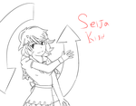 Finished drawing of Seija, the worst character by Meerkats4Free
