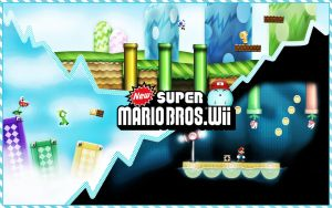 New Super Marios Bros Wii Wall by Javienen