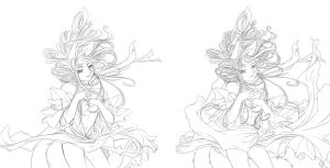 Elegant Force: Sketch to lineart by Teh-stupid-bug