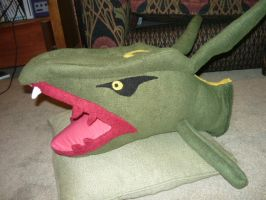 Severed head of RAYQUAZA plush by SilkenCat