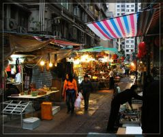 Street life in Hong Kong by drevilknevel