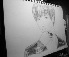 Leeteuk sketch :unfinished: by Lanaleiss