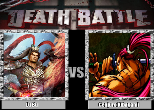 Death Battle - Lu Bu vs Genjuro Kibagami by MDTartist83