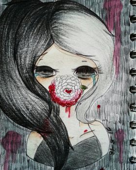 Words bleed from my mouth  by Abi-Berry