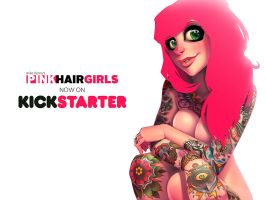PINK HAIR GIRLS Kickstarter now live! by Zatransis