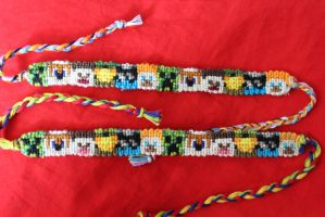 Achievement Hunter Minecraft Skins Bracelet by Bookworm1994