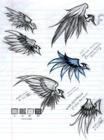 Wing Tattoo Commission by ravencael