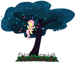 Fluttershy - Queen of the Birds -Request- by 1414HolyFlanders