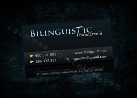 Bilinguistic Business Card by Adamoos
