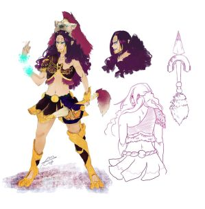 Lyssa concept - Project Anger - [r/smite]D.AGBODJO