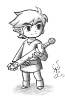 Link - Hero of Wind (Sketch) by BiasBlaster