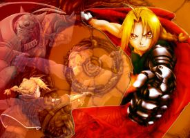 FMA Battles Past by EveningAlchemist