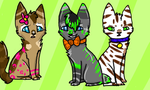 Shiny Kitten Adoptables (Open) by NeonOwlz
