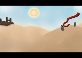 Cinematic view: Desert by Gloomy-Butt