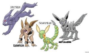 Disturbed Eeveelutions by RacieB